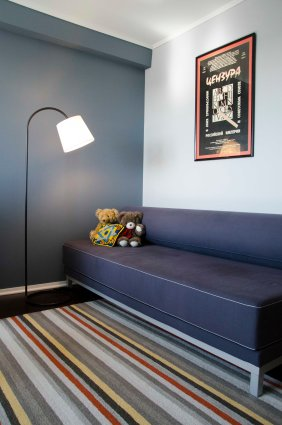 Second bedroom/office with Twilight Sleeper Sofa from DWR