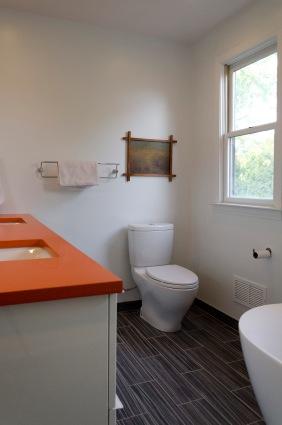Master bath with Toto toilet